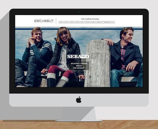 Orizuru | Graphiste webdesigner | Escassut - Mise à jour contenu web