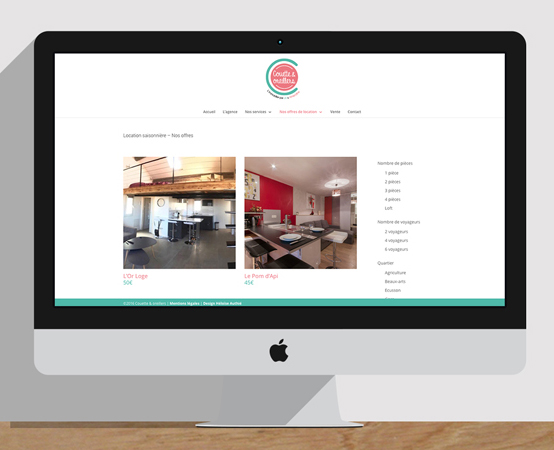 Orizuru | Graphiste webdesigner | Couette & oreillers - Webdesign
