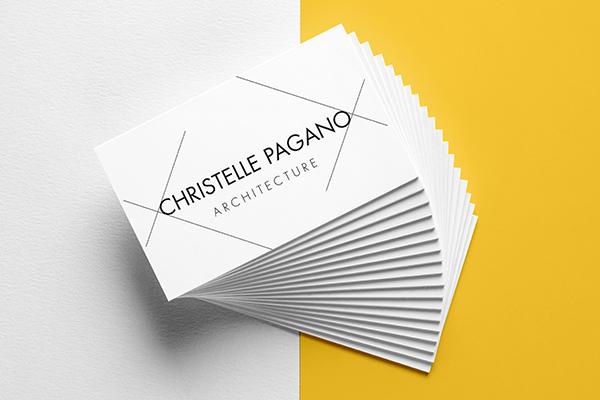 Orizuru | Graphiste webdesigner | Christelle Pagano Architecte - Cartes de visite