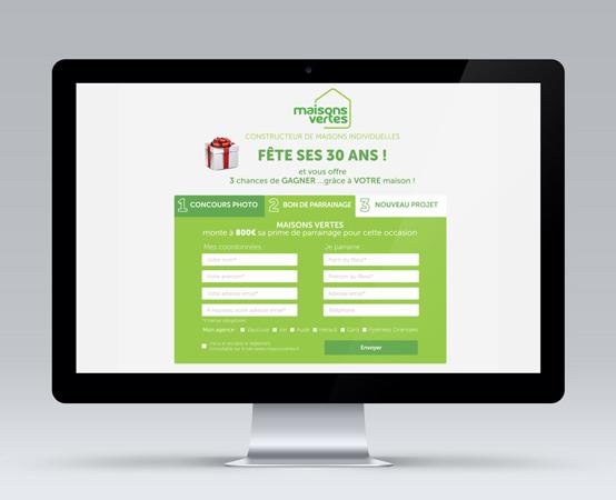 Orizuru | Graphiste webdesigner | Maisons vertes - Jeu concours - Webdesign