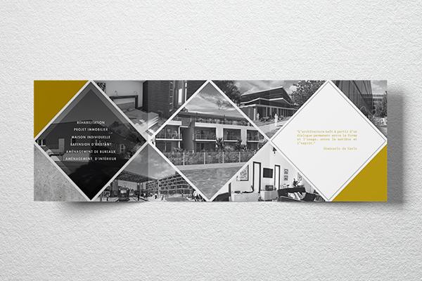 Orizuru | Graphiste webdesigner | Christelle Pagano Architecte - Dépliant