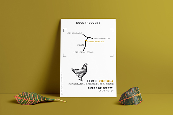 Orizuru | Graphiste webdesigner | Ferme Vignola - Flyer verso