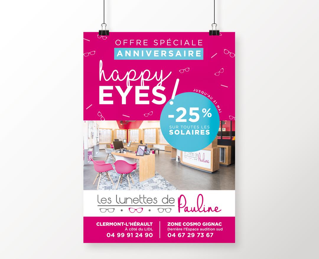 Orizuru créations | Les lunettes de Pauline - Campagne d'affichage Avril