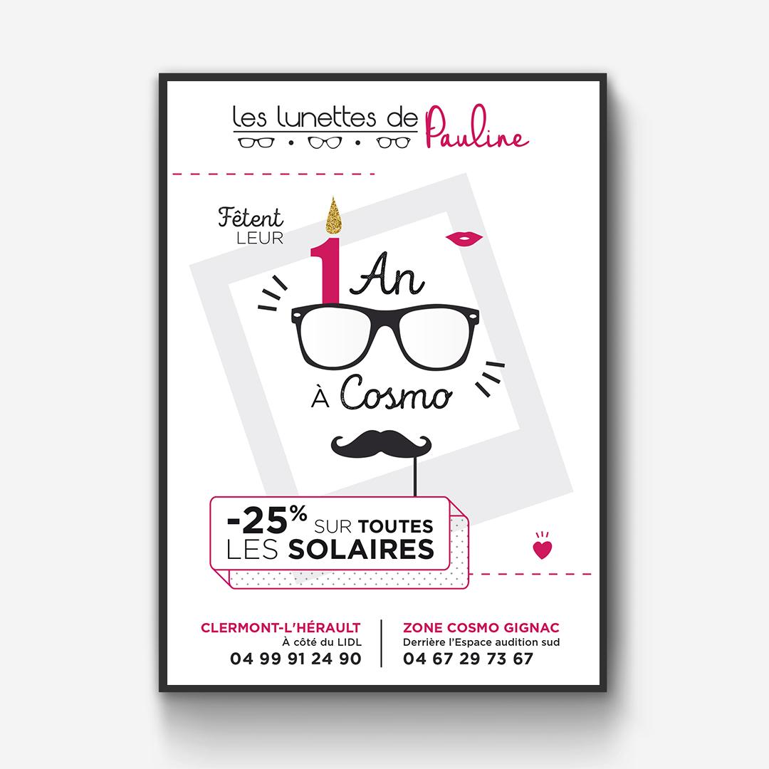 Orizuru | Graphiste webdesigner | Les lunettes de Pauline - Campagne d'affichage d'Avril