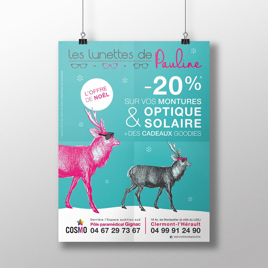 Orizuru | Graphiste webdesigner | Les lunettes de Pauline - Affiche