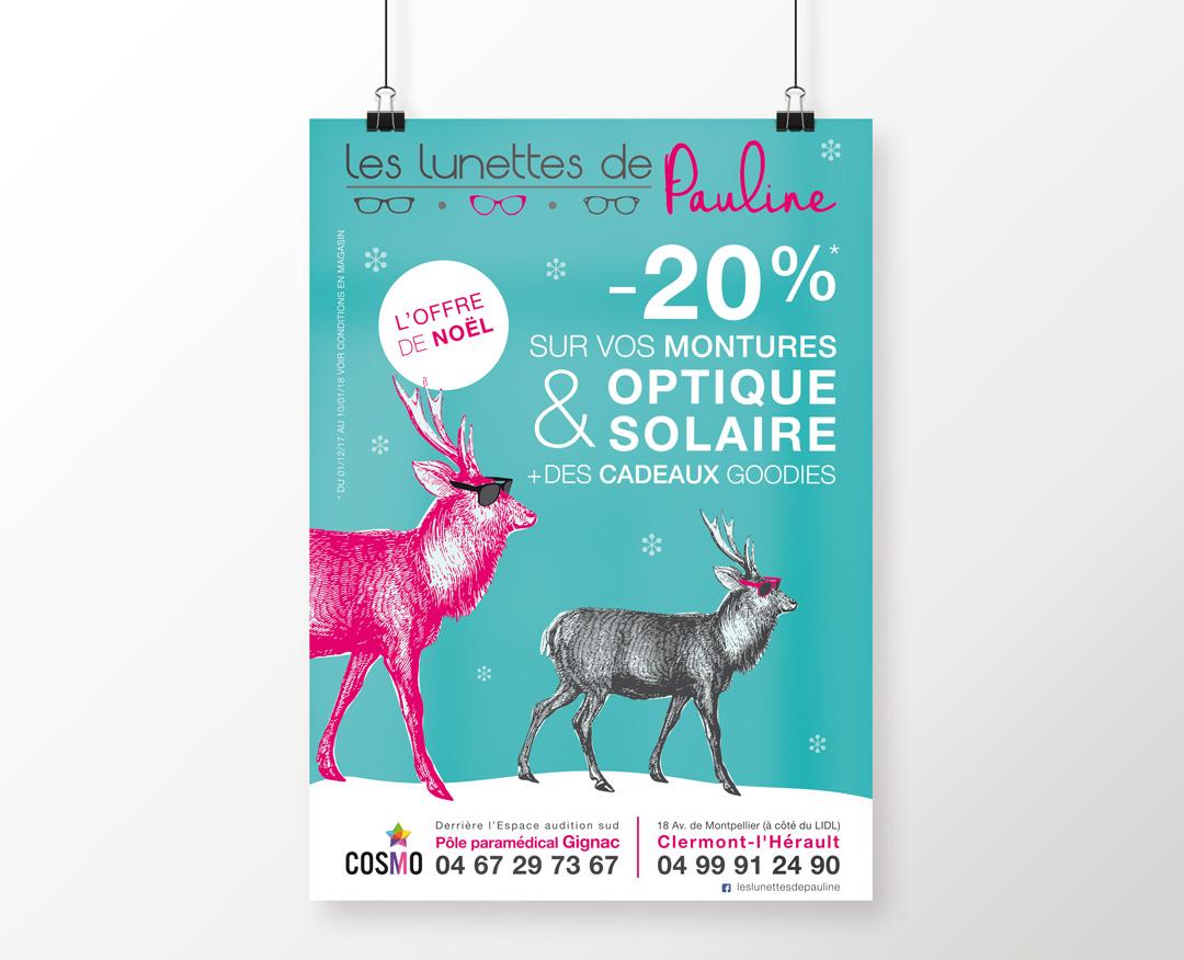 Orizuru créations | Les lunettes de Pauline - Campagne d'affichage Noël