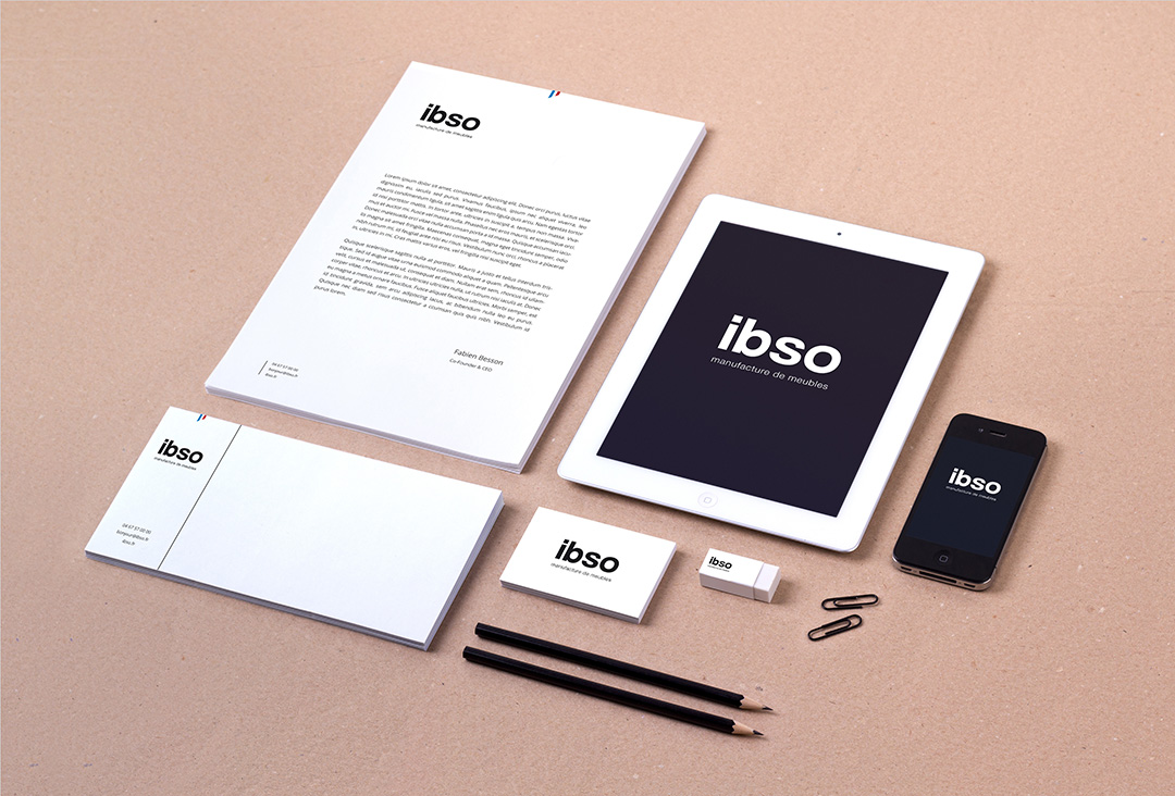 Orizuru | Graphiste webdesigner | ibso - Manufacture de meubles - Papeterie