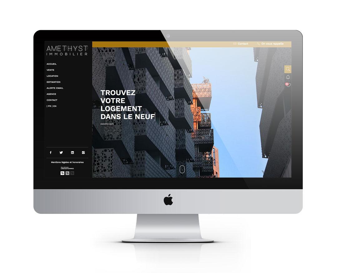 Orizuru   Graphiste webdesigner   Modèle Amethyst - Accueil