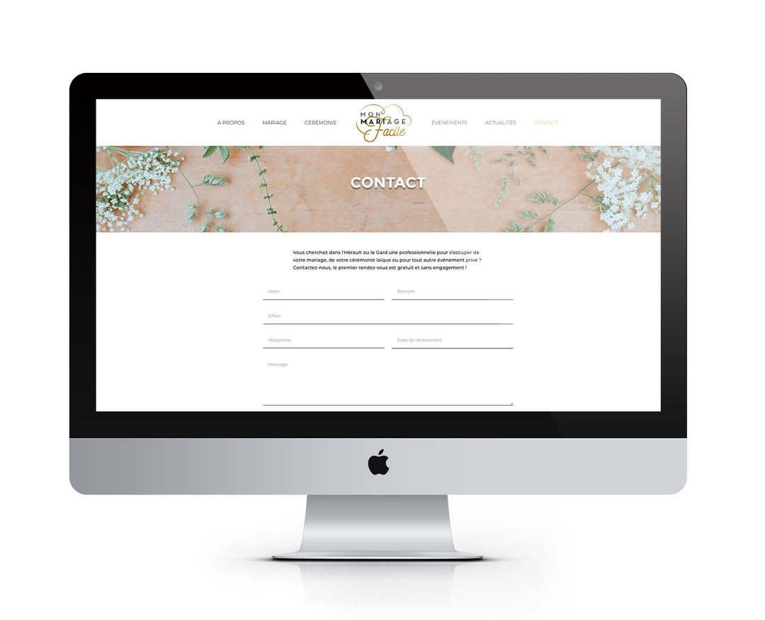 Orizuru | Graphiste webdesigner | Les lunettes de Pauline -  Mon mariage facile - Webdesign