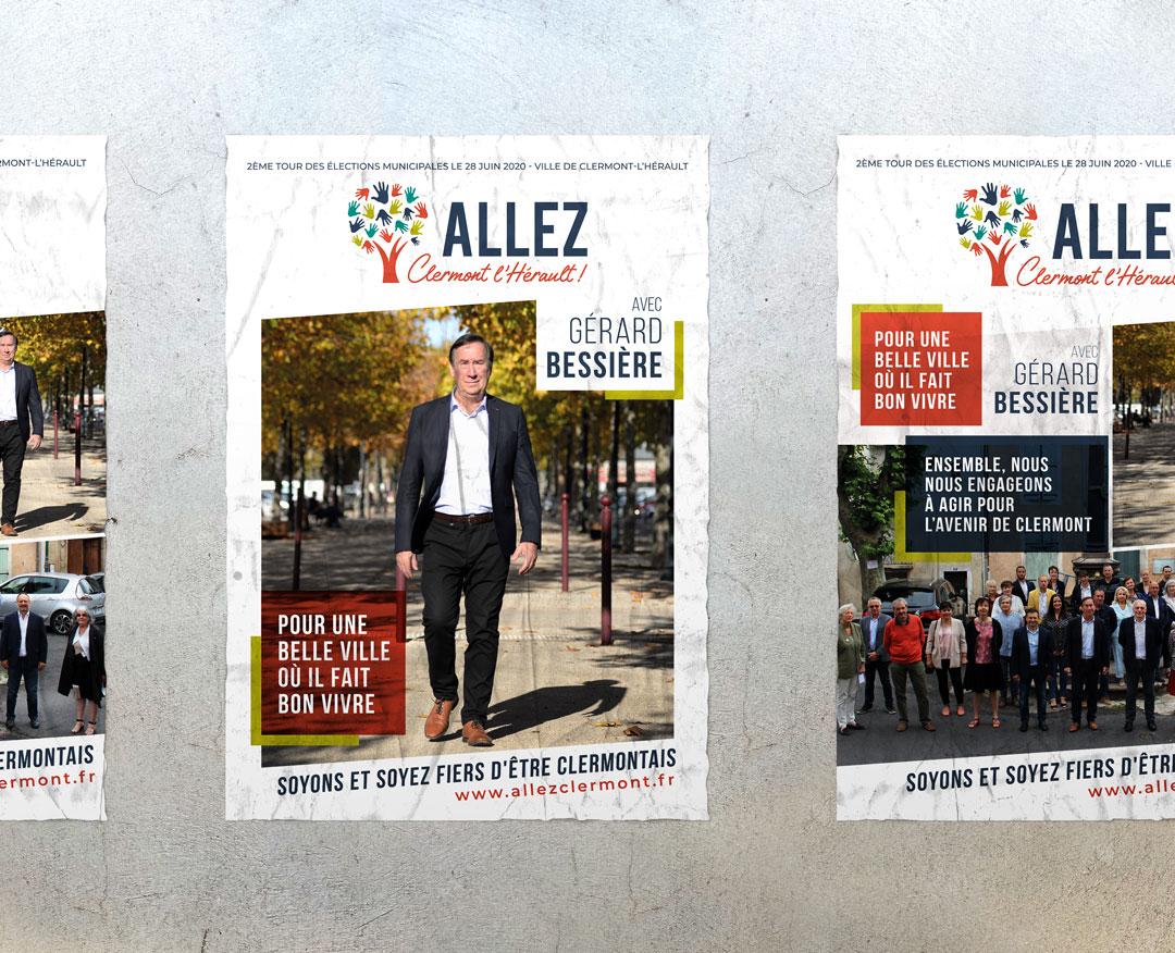 ALLEZ CLERMONT L'HÉRAULT ! - Affiche de campagne
