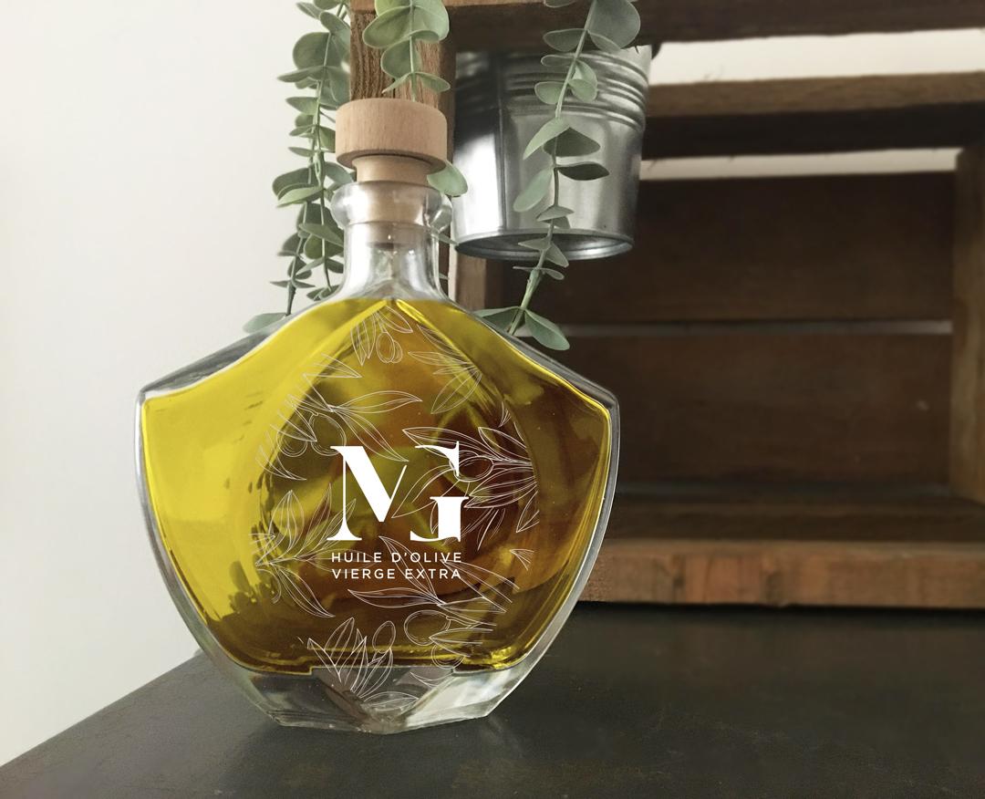 Orizuru créations | Le moulin de la garrigue ~ Gravure sur bouteille